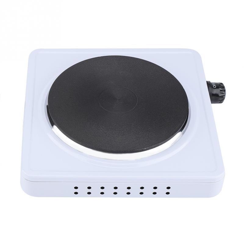 Plaque chauffante électrique 500 W 220 V Portable chauffe-café chauffe-thé plaque de cuisson en acier inoxydable Durable EU Plug professionnel