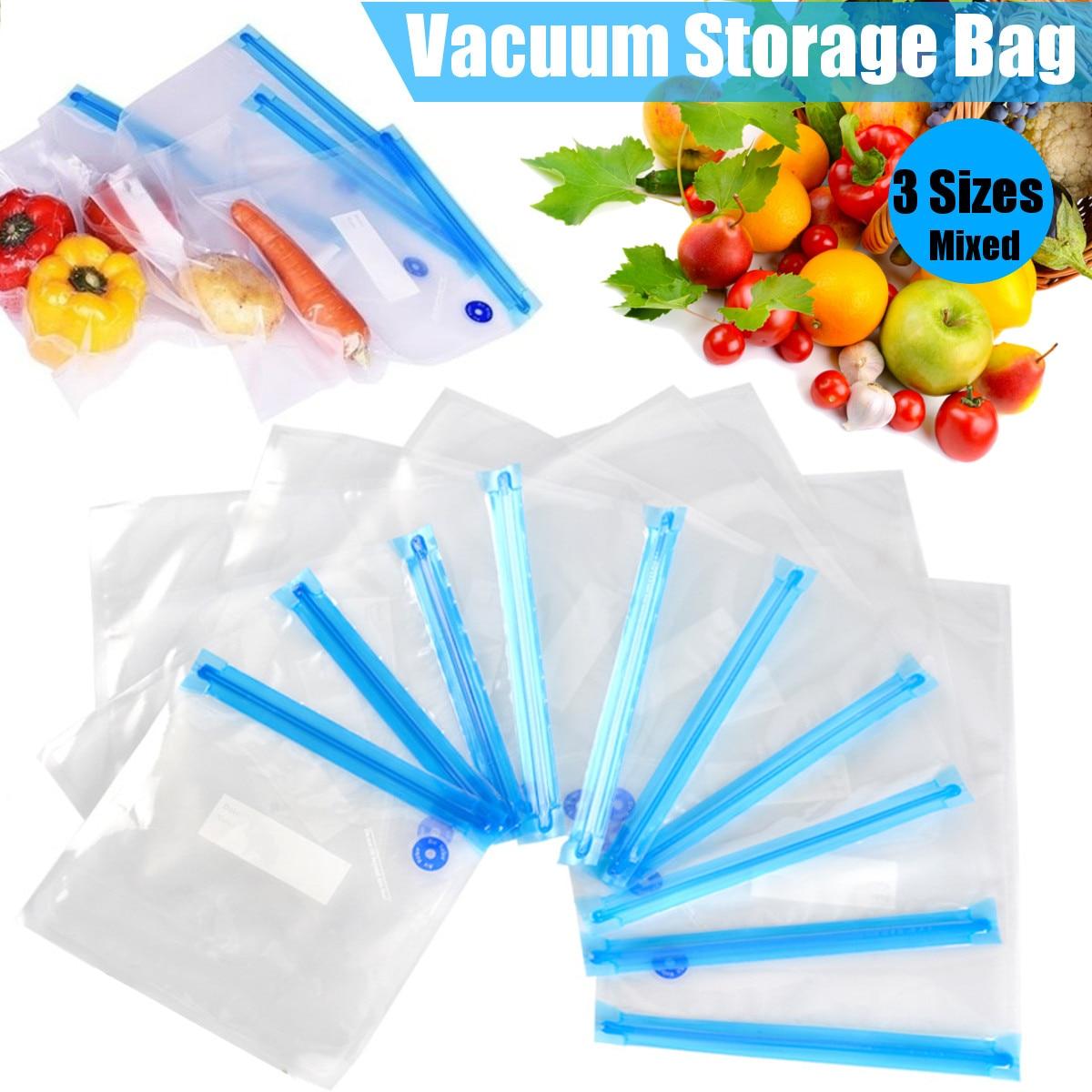 10pcs Handy Portable Sealing Food Vacuum Sealer Bag Machine Kitchen Always Fresh Seal Vac Heat Sealing Machine Food Preservation