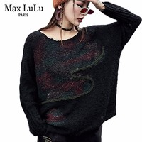 Max LuLu Fashion Korean Style Ladies Top Knitted Knitwear Womens Christmas Sweater Winter Punk Jumper Female Pullovers Plus Size