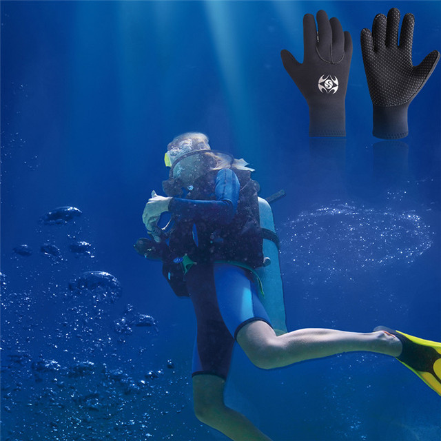 3mm Neoprene Men Women Warm Scuba Diving Gloves Windsurfing Surfing Spearfishing Snorkeling Boating Fishermen Gloves Cold-proof
