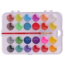 Colors Solid Pigment Watercolor Painting Set Water Brush Pens