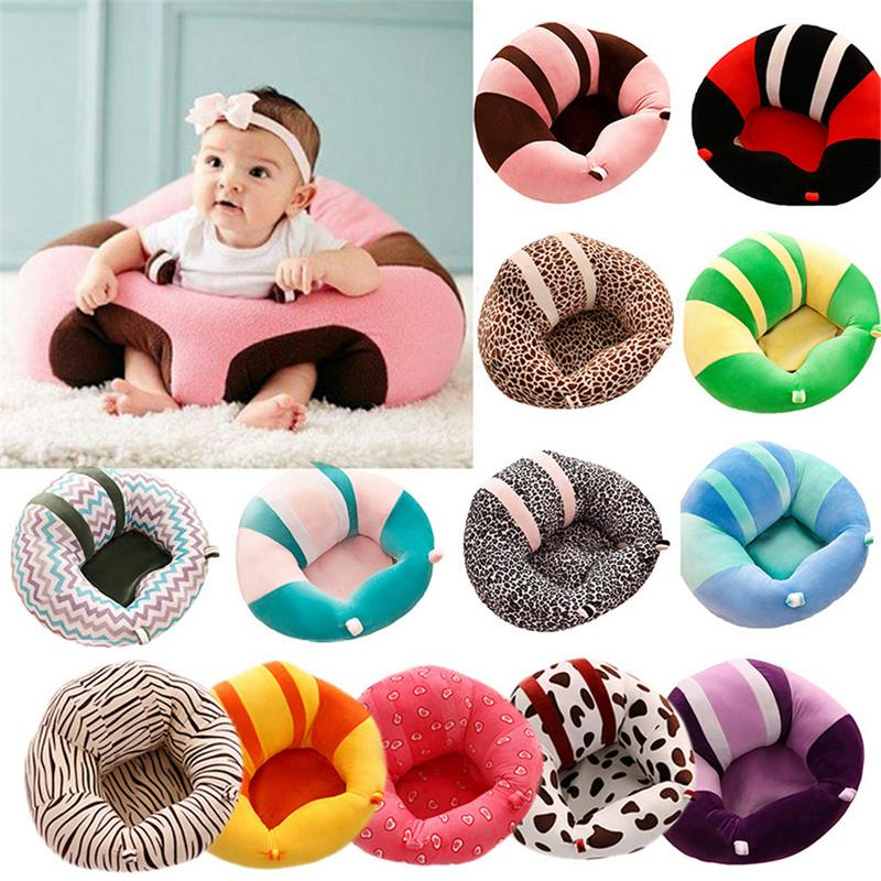 Infantil Support Seat Soft Baby Cotton Safety Chair Newborn Striped Printing Seat Plush Toy Child Feeding Chair Dropshipping