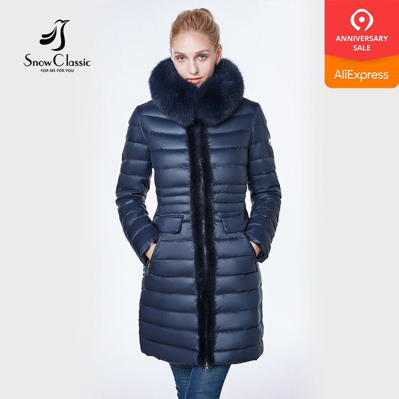 jacket women 2018 camperas mujer abrigo invierno coat women park Mink predecessor fox fur hat European design slim long warm