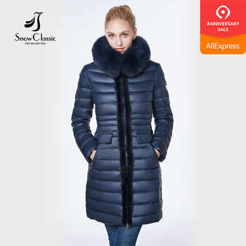 jacket women 2018 camperas mujer abrigo invierno coat women park Mink predecessor fox fur hat European design slim long warm - DISCOUNT ITEM  37% OFF All Category