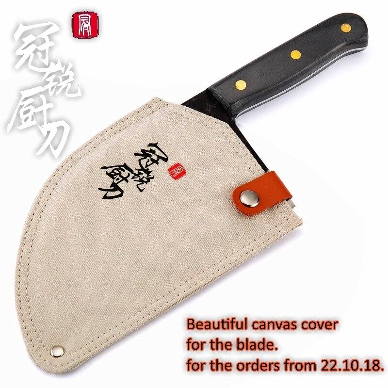 Hecho A Mano forjada cuchillo de Chef de acero revestido de forjado chino Cleaver profesional cuchillos de cocina carne verduras corte cortar herramienta