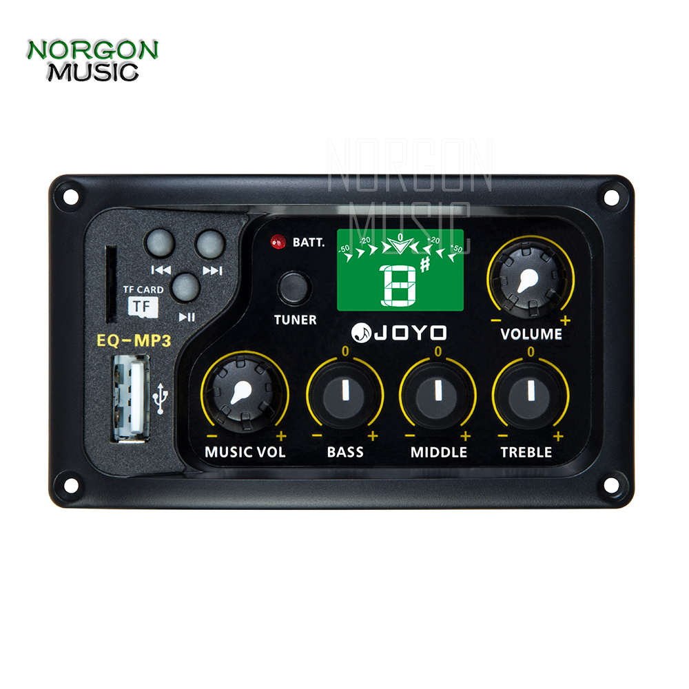 For Acoustic Guitar Guitar Parts and Accessories Equalizer Joyo EQ-MP3 LCD Digital 3 Band EQ USB Pickup Preamp Tuner
