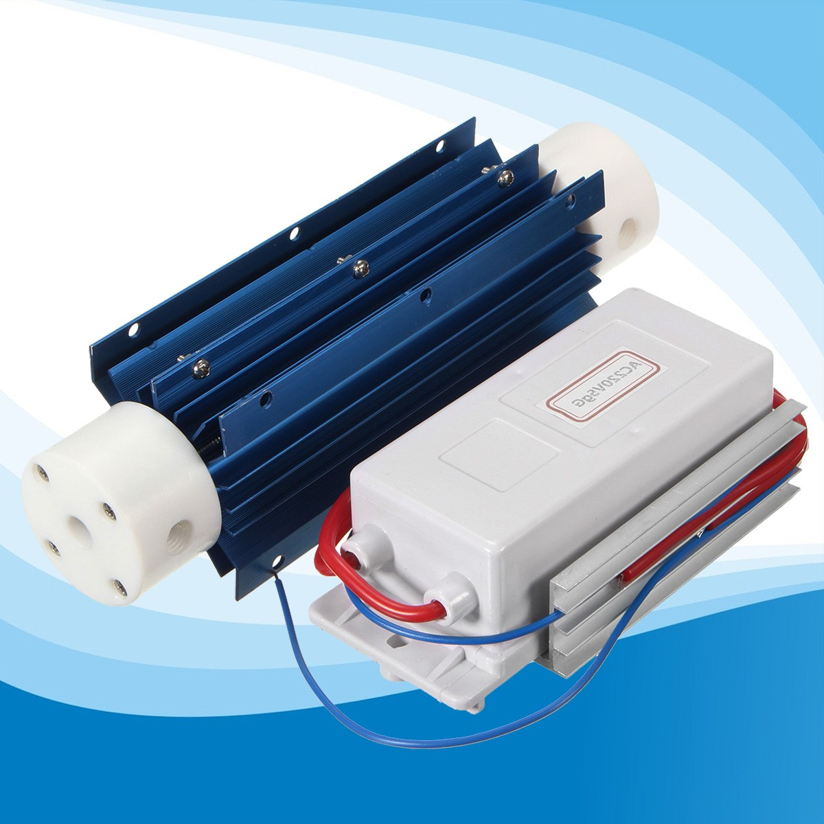 New 60W 220V 5G/H Water Disinfection Treatment Suite Ozone Generator Quartz Tube Air Ozone Air Purifier