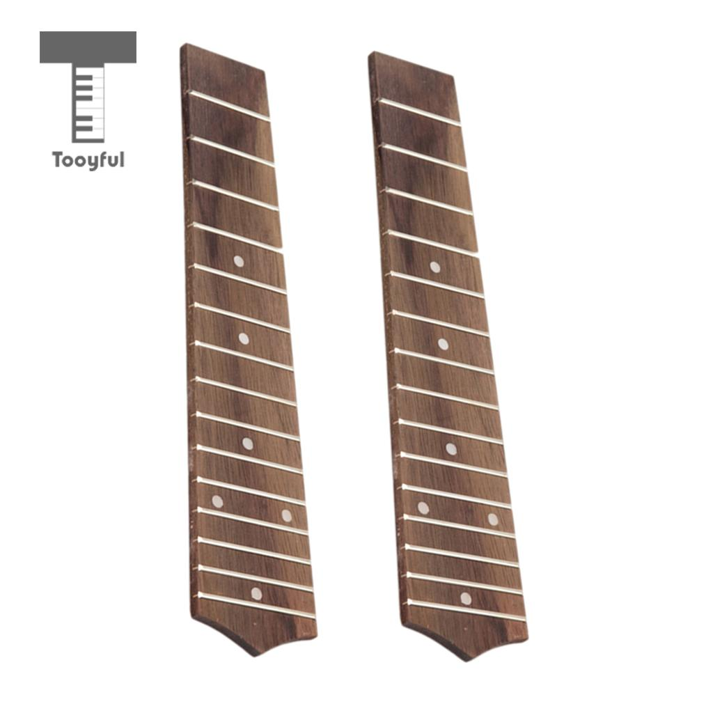 Guitar Parts & Accessories Punctual Tooyful 2 Pieces Rosewood 15 Frets Uke Fretboard Fingerboard For 21inch Soprano Ukulele Replacement Parts Unequal In Performance Musical Instruments