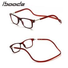 8b5a4e825 Iboode Dobrável Óculos de Leitura Magnética Ímã Homens Mulheres Halter  Pescoço Óculos Para Presbiopia Dobráveis +