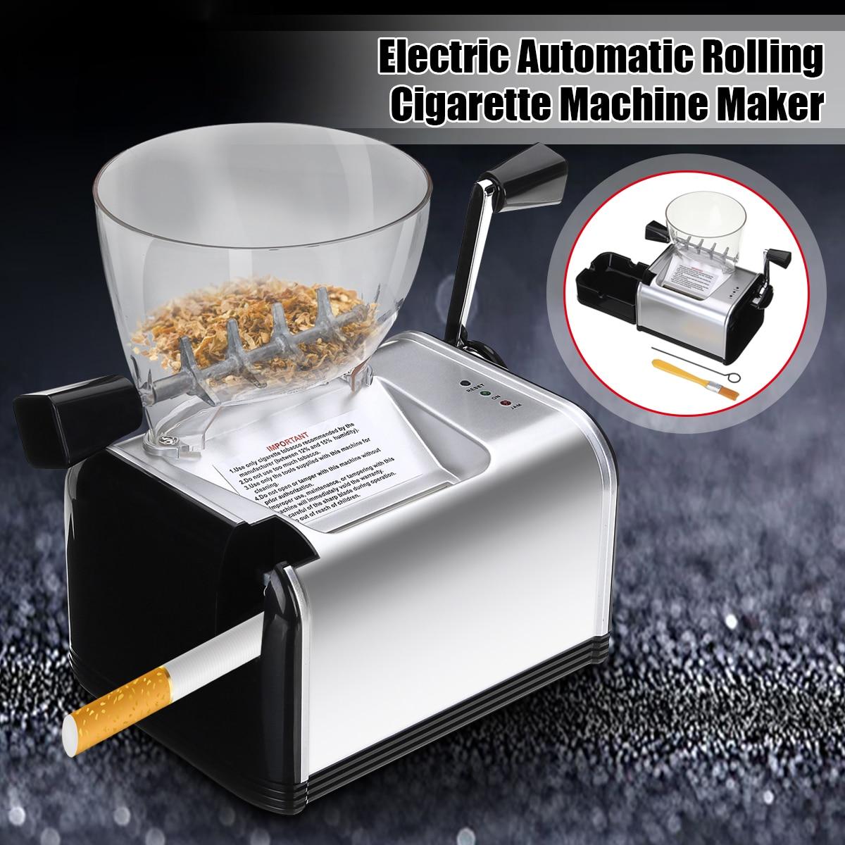 220 V électrique automatique faisant rouler la Machine à cigarettes tabac rouleau fabricant injecter 8mm Tube Portable fumer outil EU Plug