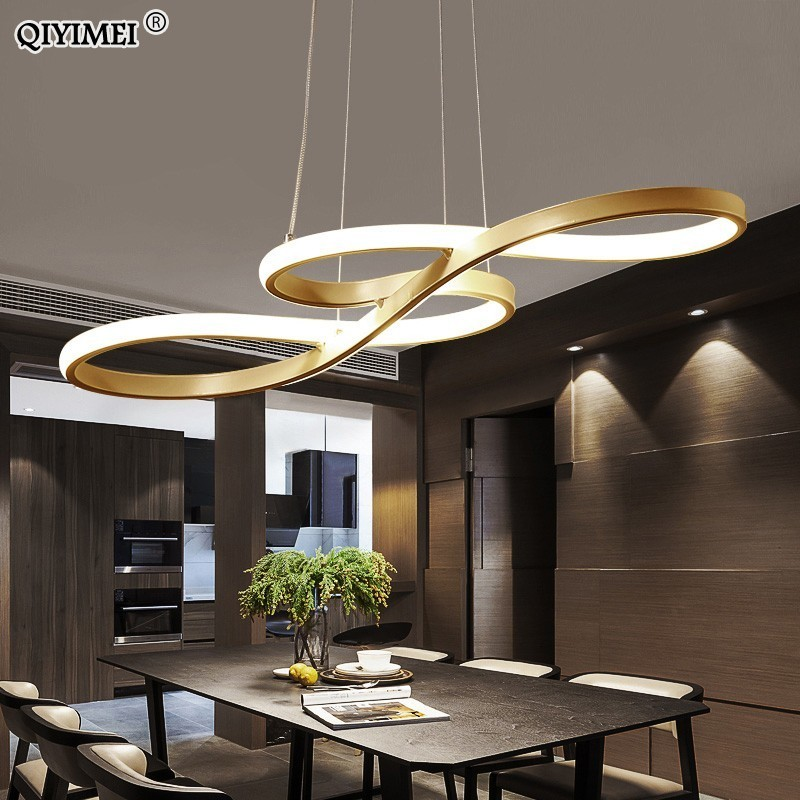 Modern New Creative LED pendant lights Kitchen aluminum silica suspension hanging cord lamp for dinning room