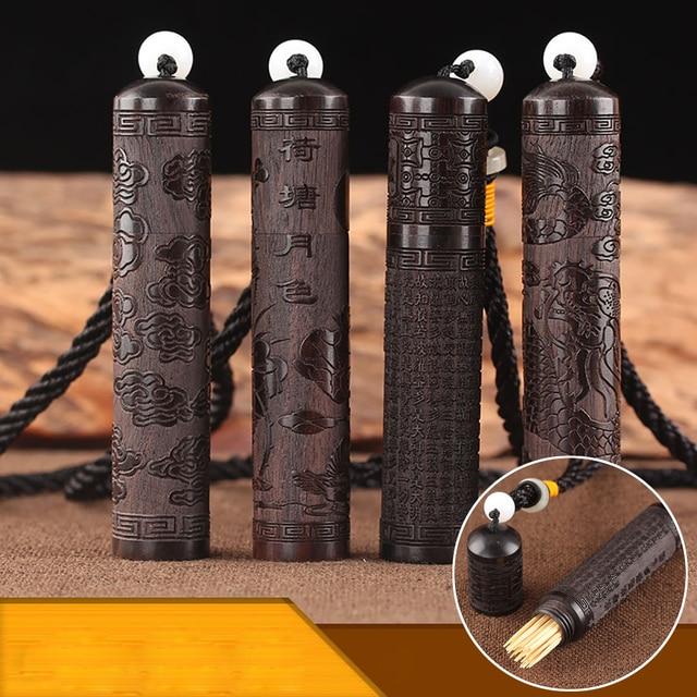 Классический эбеновый держатель для зубочистки, игла, пуля, ватные тампоны, вышитая Герметичная Бутылка, портативное украшение для стола 15