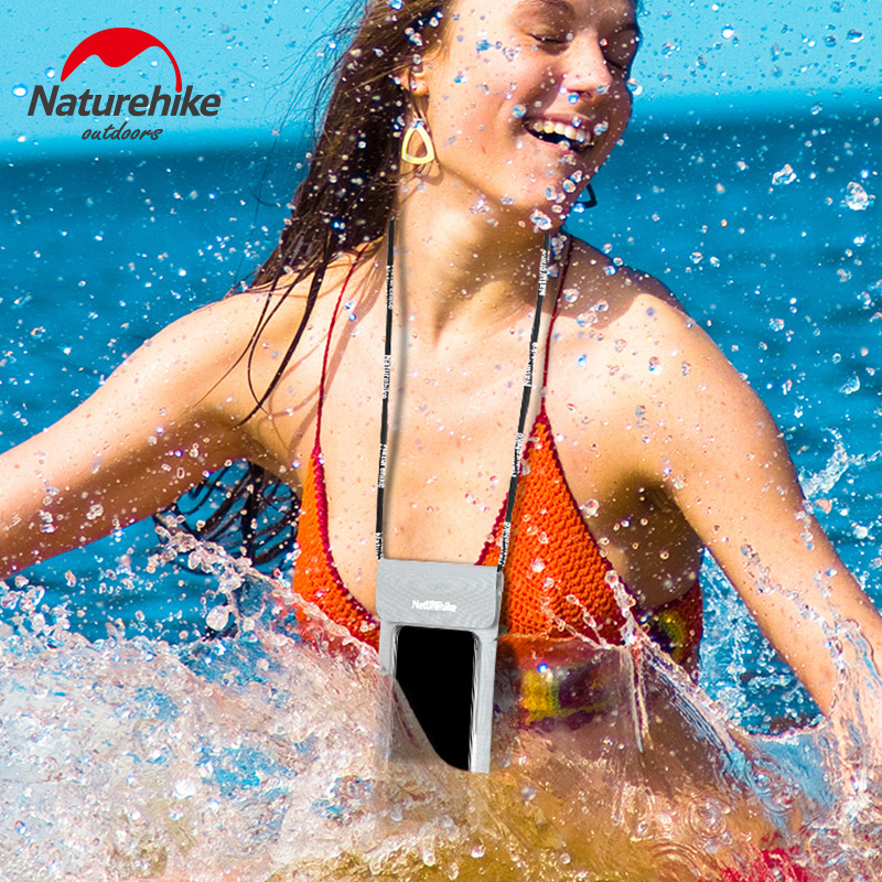 Naturehike IPX8 Mobile Phone Touch Screen Waterproof Bag Free Beach Water Proof Pouch Case For IPhone Swimming Surfing Diving