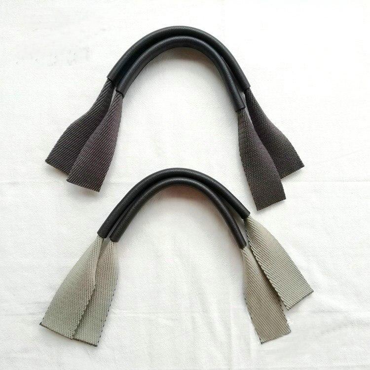 Grain Cow Leather Webbing Short Bags Belt Shoulder Bag Strap Handle DIY Patchwork Hand Bag Accessories 43cm*2.5cm Obag Handle