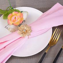 10pcs/lot Stainless Steel West Dinner Towel Napkin Ring Table Decoration Serviette Rings Holder Party Wedding
