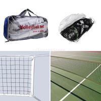 Standard Official Size Volleyball Net Outdoor Indoor Beach Netting Sports Mesh with Steel Cable and Storage Bag