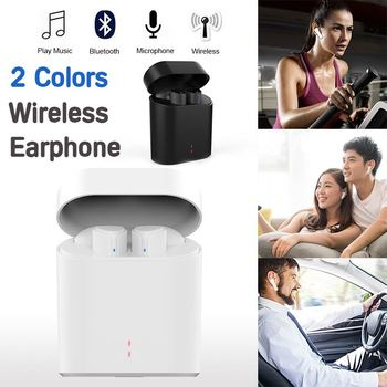 TWS Mini Wireless Bluetooth Earphone Stereo Earbud Headset With Charging Box Mic For iPhone For All Smart phone Sports Headsets