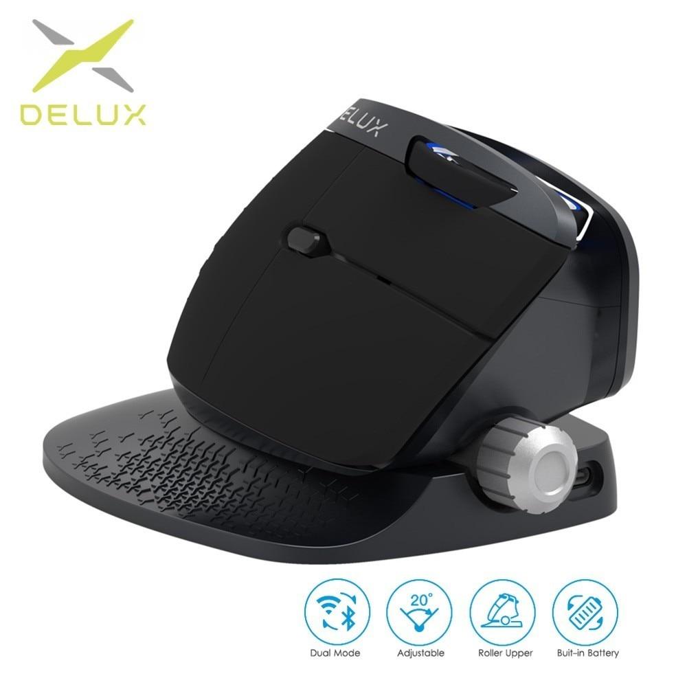 Nouveau 2019 M618X double Mode 2.4 Ghz souris sans fil Bluetooth souris Rechargeable ergonomique verticale ordinateur USB souris de jeu optique