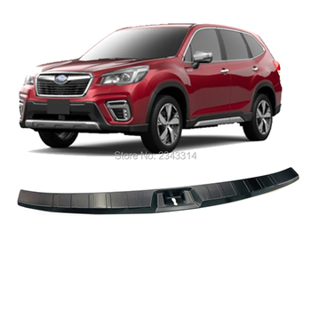 For Subaru Forester SK 2018 2019 Stainless Steel Rear Bumper Step Guard Pad Fender Interior Cover Trims Car Styling Accessories