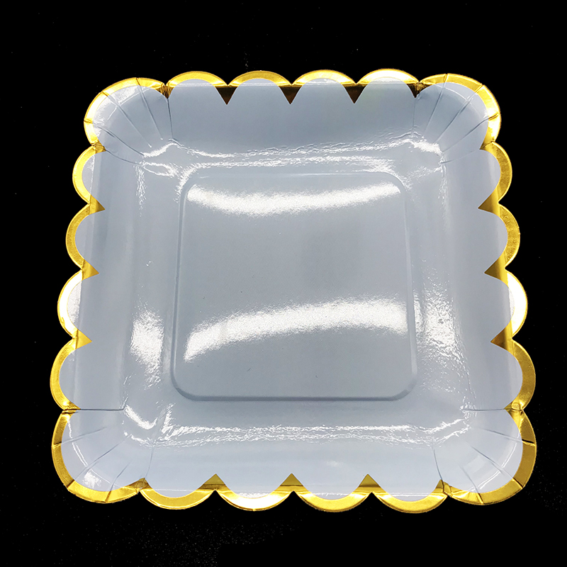 10pcs Lot Metallic Paper Plates High Quality