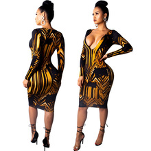MUXU fashion patchwork jurken sexy floral dress long sleeve bodycon women clothing kleider clothes party dresses vestidos
