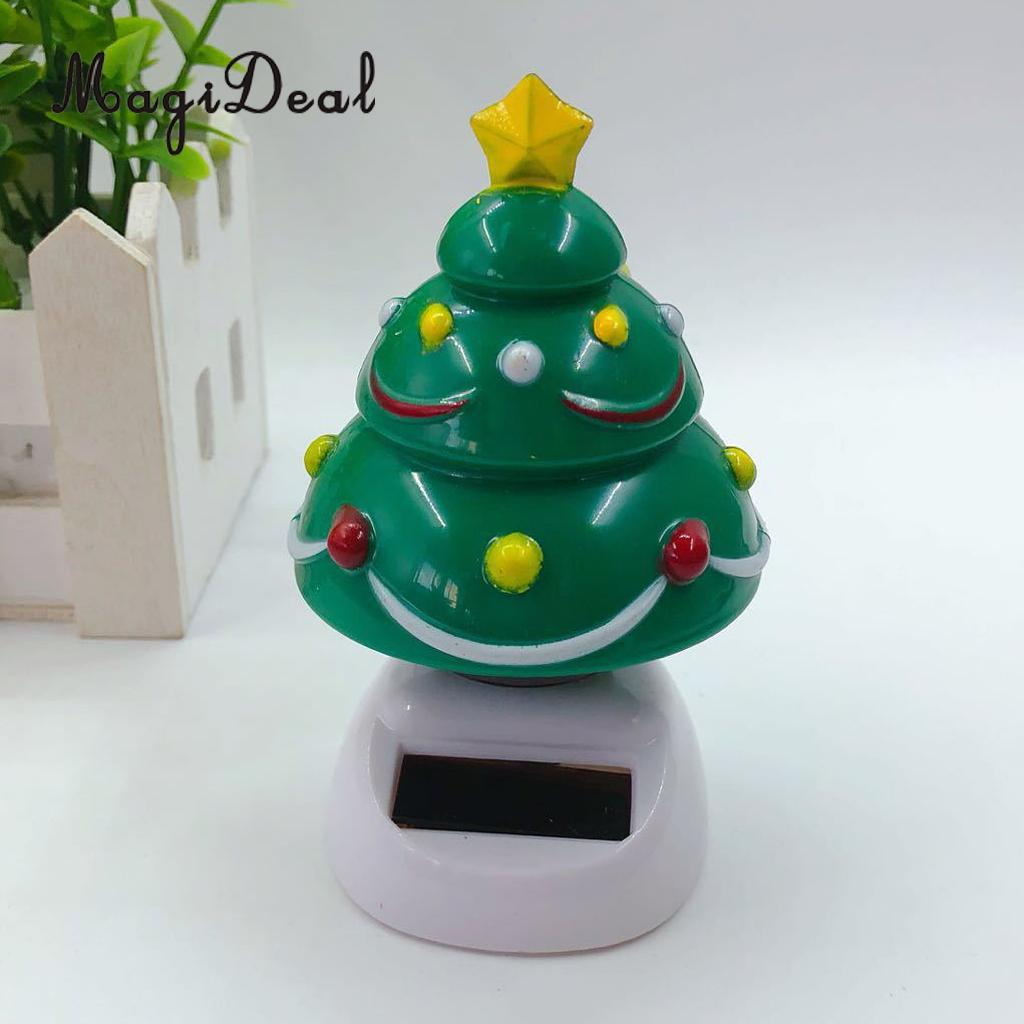 Solar Powered Dancing Christmas Tree Toy Home Car Auto Interior Ornament