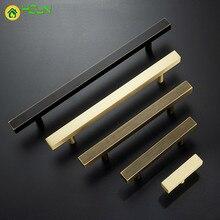 1pc Gold Cabinet Handles Furniture Drawer Pulls solid Brass Kitchen Cupboard Door Hardware Knobs hole spacing
