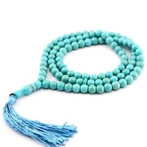 Image 5 - Pedra azul borla em forma redonda 99, oração, contas, rosário islâmico, tasbih, alá, baha, tesbaha, sibha, subha tespeeh