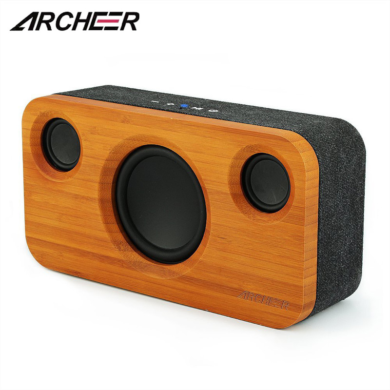 ARCHEER A320s Subwoofer Speaker bluetooth Bamboo Wood Super Bass Built-in Mic 3D Stereo Surround SpeakerARCHEER A320s Subwoofer Speaker bluetooth Bamboo Wood Super Bass Built-in Mic 3D Stereo Surround Speaker
