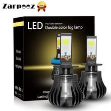 Zarpooz Car Fog Light Led Bulbs 880 881H3 H8 H9 H11 LED 72W Led Automotivo White And Yellow White And Blue 4color Light