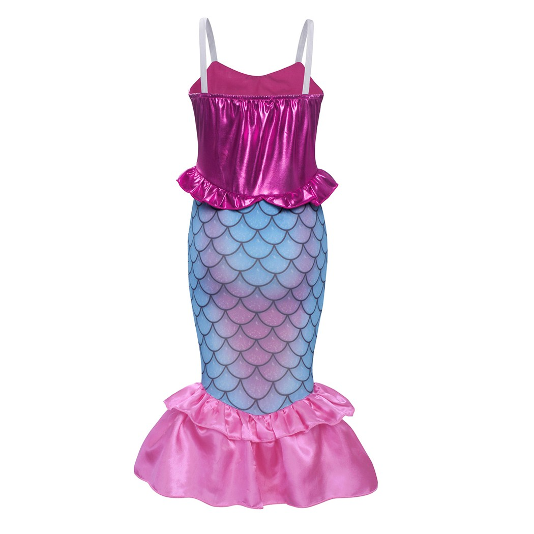 Little Mermaid Fairytale Ariel Fancy Dress Costume Childs Girls Princess Kids S