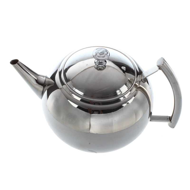 2000ML Stainless Steel Teapot Tea Pot Coffee With Tea Leaf Filter Infuser  25*15*17cm|Teapots| |  - title=