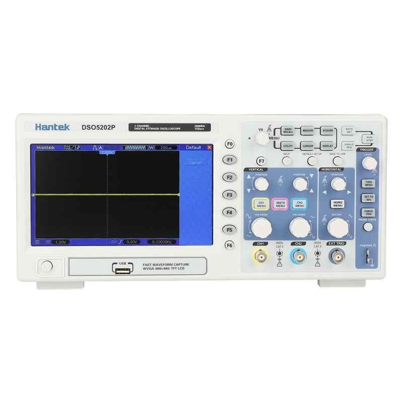 Hantek DSO5202P Oscilloscope de stockage numérique 2 canaux 200 MHz 1GSa/s Kit d'oscilloscope EU Plug AC110-240V