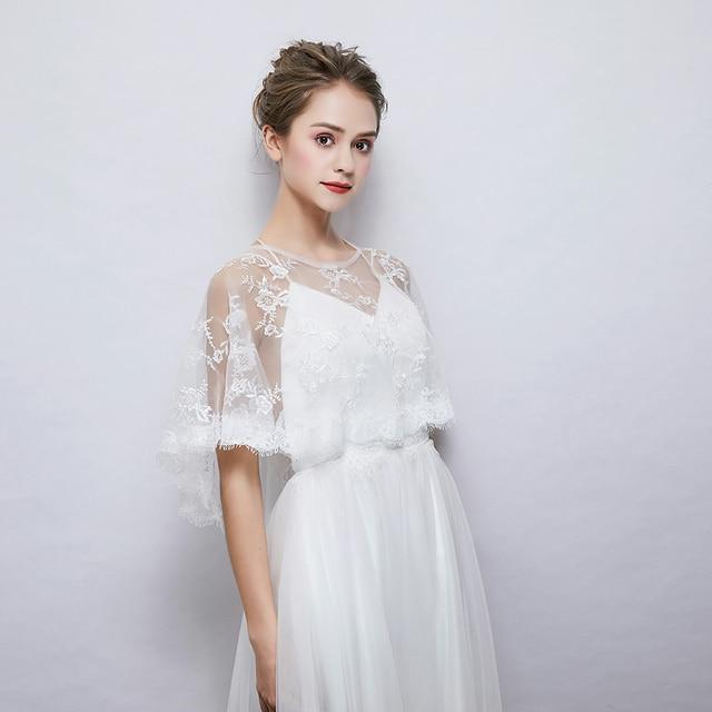 2cfa51f0e3a8 New Embroidered Eyelash Lace Wrap Fashion Women Summer Sheer Cape Bridal  Wedding Princess Shawl Cover Up Handmade