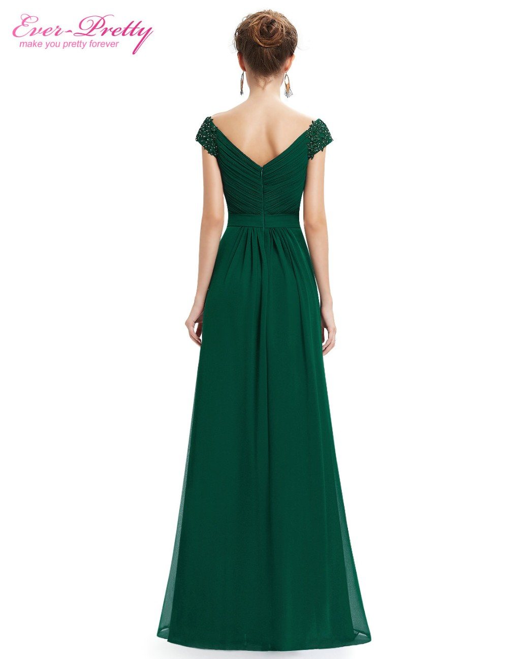 17aa39a16d Ever Pretty Evening Dresses EP08633 Women Elegant Sexy Beading Deep V neck  Long Evening Gown 2018 Chiffon Dress robe de soiree-in Evening Dresses from  ...