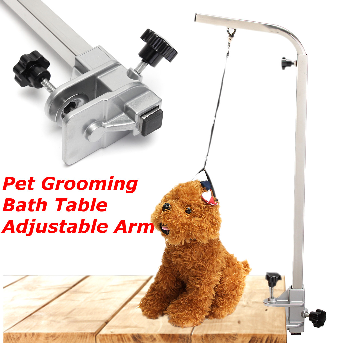 New Portable Adjustable Metal Table Arm Support Holder For Pet Dog Grooming Bath Table DeskNew Portable Adjustable Metal Table Arm Support Holder For Pet Dog Grooming Bath Table Desk