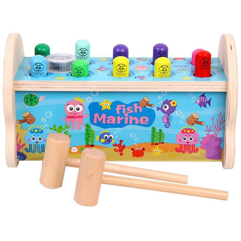 Bébé enfants musique jouets en bois frapper frappé Hamster jeu enfants Parent-enfant Interaction océan Whack-a-taupe Puzzle jouets