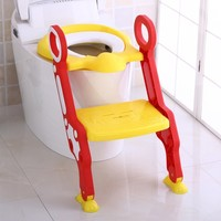 Baby Toilet Seat Baby Potty Adjustable Ladder Potty Infant Kids Folding Safety Child Seats Toilet Trainer Seat Pot For Children