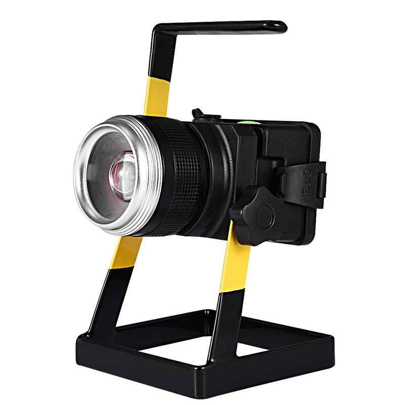 LED Charging Flood Light Spotlight Rechargeable Searchlight Long-range Waterproof Portable Outdoor Light Charging Work Light
