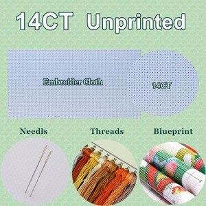 Image 5 - 刺繍クロスステッチキットをカウン針仕事 クラフト 14 ct Dmc カラー DIY 芸術手作り装飾 魅惑の仕立屋