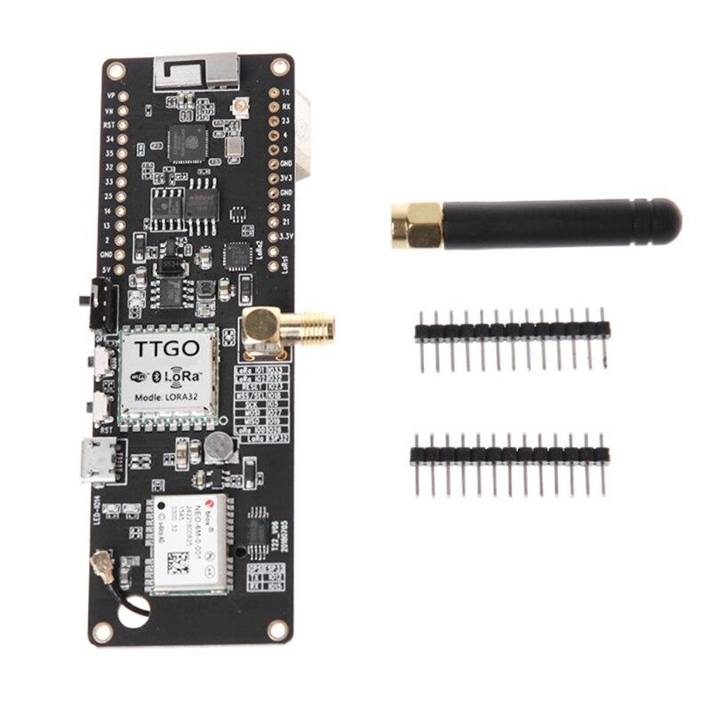 Ttgo t-beam Esp32 868 Mhz Wifi sans fil Bluetooth Module Esp32 Gps Neo-6M Sma Lora 32 18650 support de batterie avec SoftrfTtgo t-beam Esp32 868 Mhz Wifi sans fil Bluetooth Module Esp32 Gps Neo-6M Sma Lora 32 18650 support de batterie avec Softrf