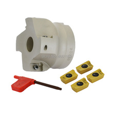 BAP400R 63 22 4T right angle shoulder face mill cutter, 4pcs inserts are fitted on the cutter