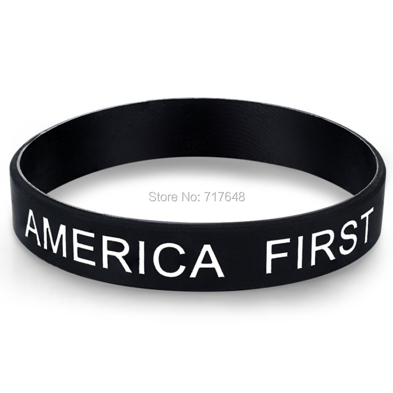 30pcs Trump First Wristband Silicone Bracelets By EPacket A