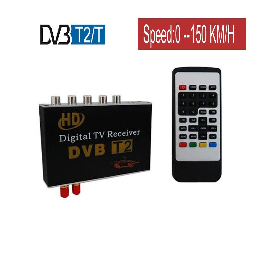 Car DVB-T2 DVB-T TV Receiver Dual Tuner For Car DVD High Speed Mpeg4 Car Digital TV Box Auto Mobile Terrestrial Receiver DVB Box
