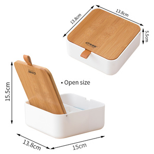 Image 5 - ORZ Makeup Organizer Plastic Storage Box with Mirror Travel Jewelry Storage Case Accessories Cosmetic Drawer Container Bamboo