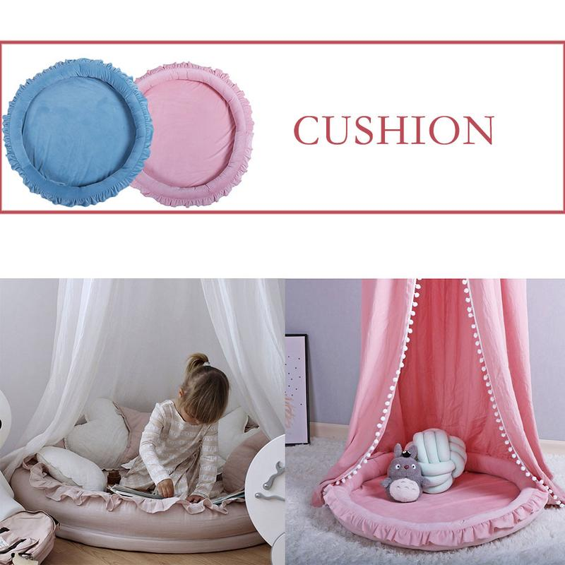 Multi-functional Crawling Mat Large Round Baby Sleeping Blanket Bed Childrens Room Lace Game Play Cushion Tent AccessoriesMulti-functional Crawling Mat Large Round Baby Sleeping Blanket Bed Childrens Room Lace Game Play Cushion Tent Accessories