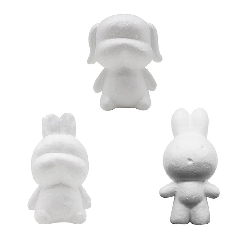 3-5 Years Kids Craft Toys Foam Animals Bear Modeling Polystyrene Styrofoam 15/20cm Doll DIY Modeling Polystyrene Styrofoam