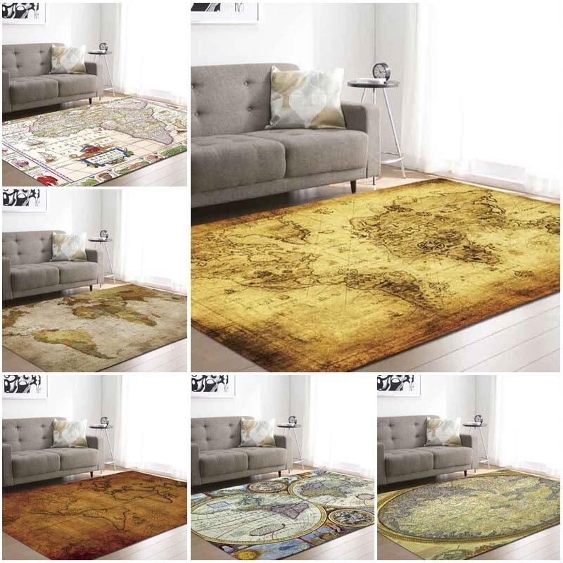 Grande carte du monde tapis de zone Vloerkleed tapis pour chambre enfants bébé jouer ramper tapis mémoire mousse tapis salon maison décorative