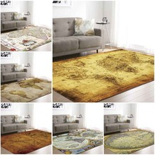 Large World Map Area Rug Vloerkleed Rugs for Bedroom Kids Baby Play Crawling Mat Memory Foam Carpet Living Room Home Decorative