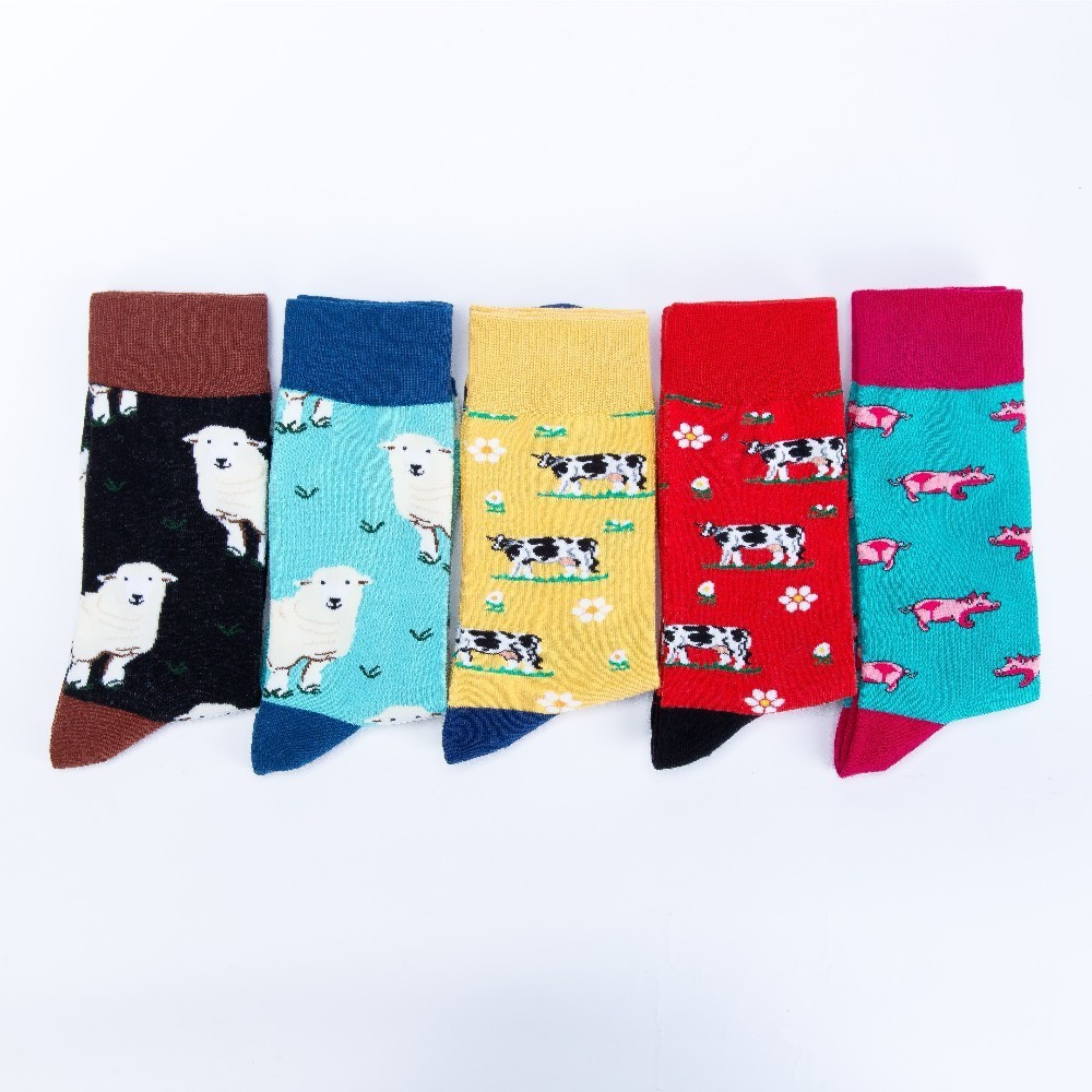 Underwear & Sleepwears V-hanver Fashion Original Mens Socks Cotton Colorful Dress Happy Socks Novelty Animal Panda Patterned Harajuku Men Sock Gift